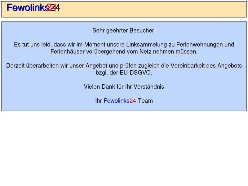 Screenshot von www.fewolinks24.de